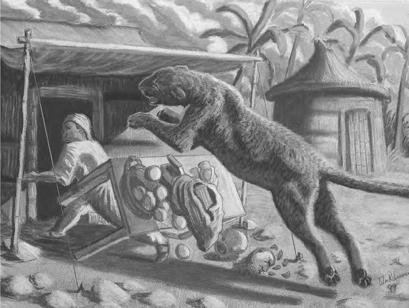 Mngwa atakuje! Ilustracja autorstwa badacza-artysty Williama Rebsamena