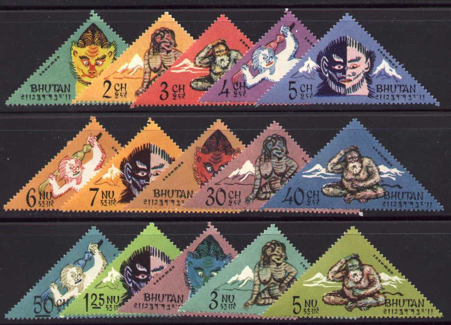 Bigfoot - kolekcja znaczków